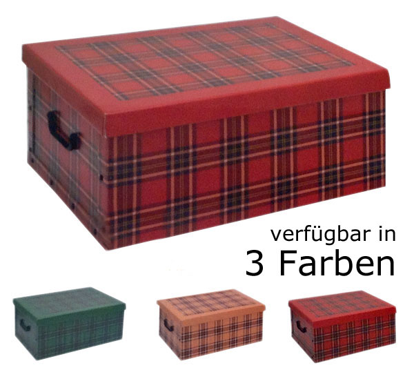 2 x aufbewahrungs box mit deckel naturmuster kiste karton schachtel pappe karo ebay. Black Bedroom Furniture Sets. Home Design Ideas