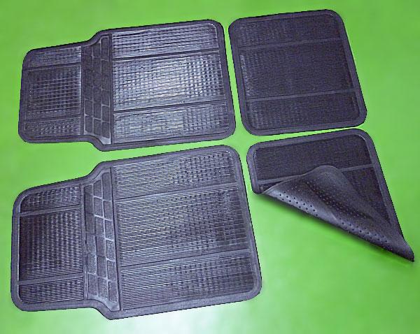 4 tlg universal gummi fussmatten set gummimatten matten auto kfz ebay. Black Bedroom Furniture Sets. Home Design Ideas