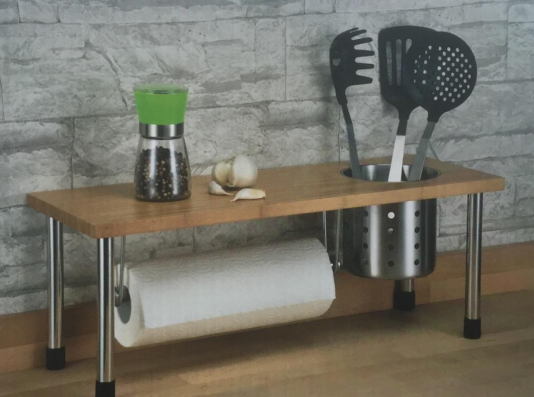 bambus küchenregal - standregal ablage küche spülbeckenregal