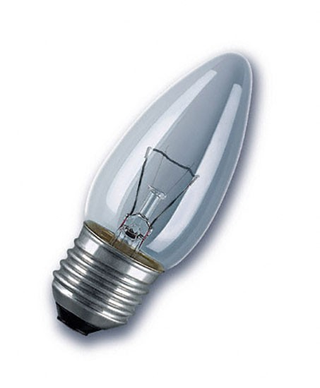 10 x gl hlampe gl hbirne kerze e27 40w 40 watt klar 230v leuchtmittel ebay. Black Bedroom Furniture Sets. Home Design Ideas