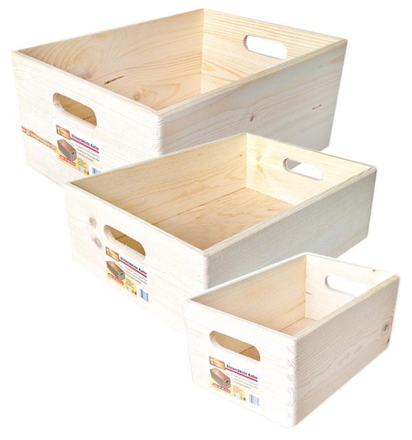 allzweckkiste kiefer holz kiste allzweck box holzkiste stapelbox versch gr en ebay. Black Bedroom Furniture Sets. Home Design Ideas